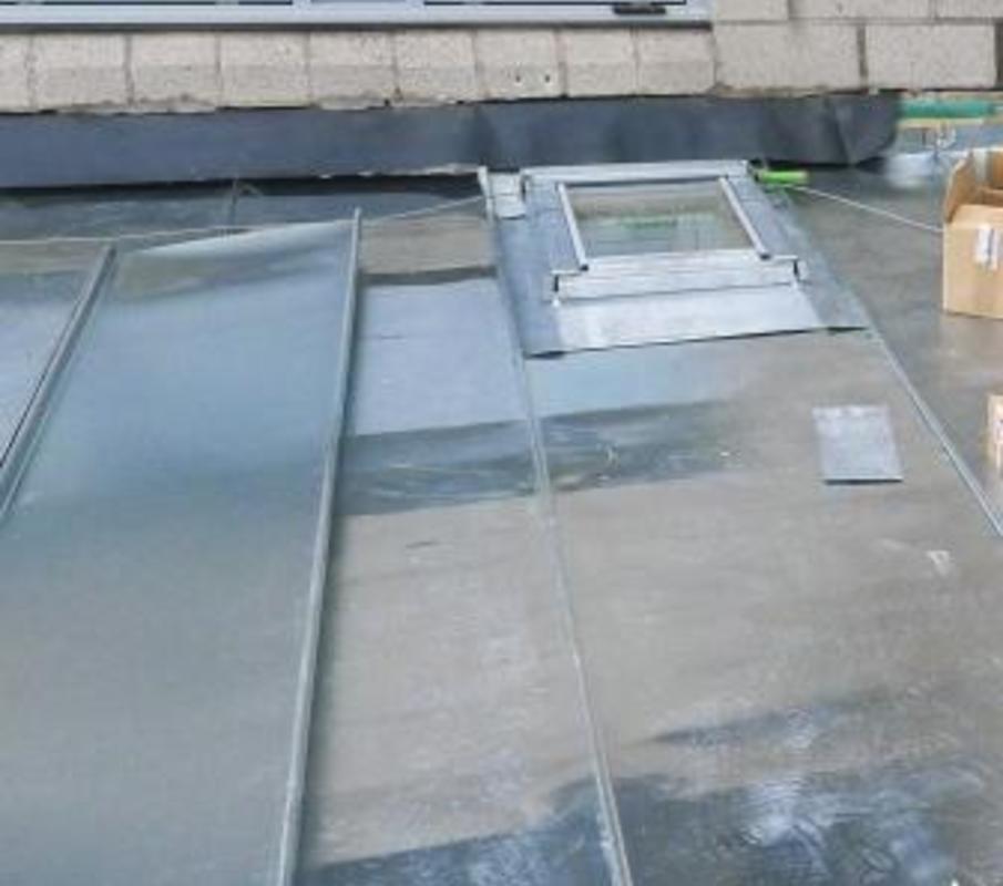 Zinc Flat Roofs